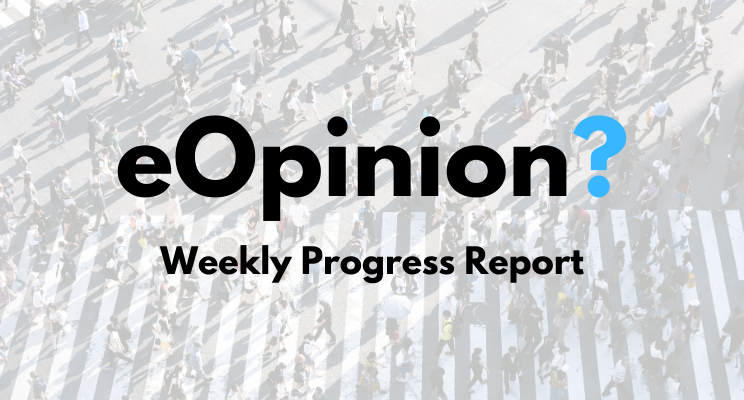 eOpinion Weekly Progress Report | Chris Hutchings